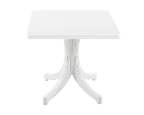 Стол для сада квадратный Фавори 80*80 см белый 01 - Фото №1