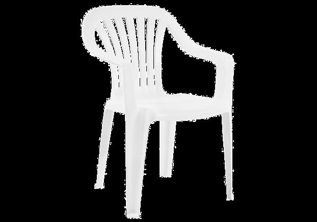 Кресло пластиковое для сада Тропик тик 13 белое - Фото №1