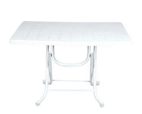 Стол складной 70*115 см белый - Фото №1