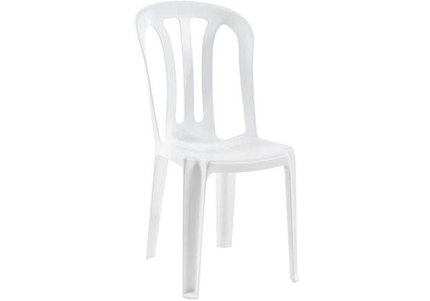 Стул пластиковый для сада Букет белый 01 - Фото №1