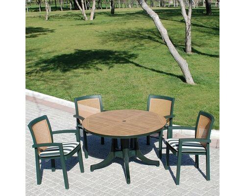 Комплект для сада Стол Diva и 4 стула Vira зеленый - Фото №1