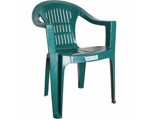 Кресло пластиковое Bahar EKO зеленое - Фото №1