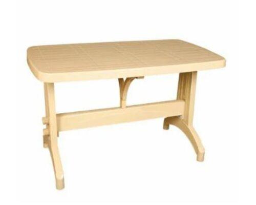 Стол пластиковый для сада Oval 70*120 см тик - Фото №1