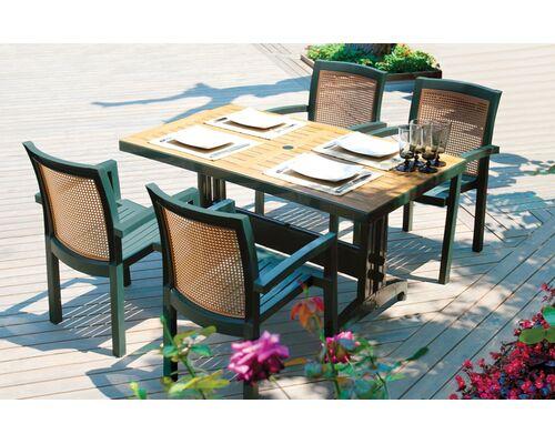 Комплект для сада Стол Prestige 80*140 см и 4 стула Vira зеленый - Фото №1