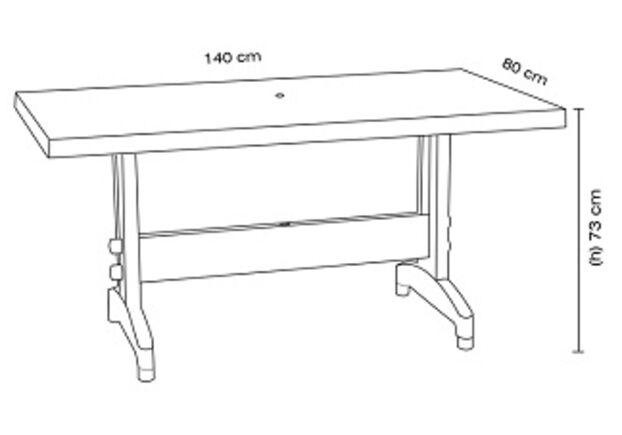 Комплект для сада Стол Prestige 80*140 см и 4 стула Vira зеленый - Фото №2