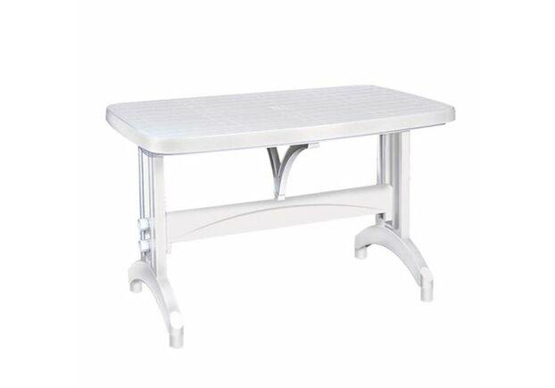 Стол пластиковый для сада Oval 70*120 см белый - Фото №1