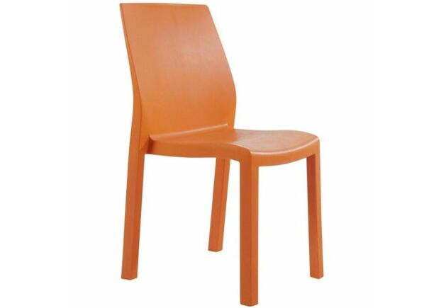 Стул пластиковый Yummy оранжевый - Фото №1