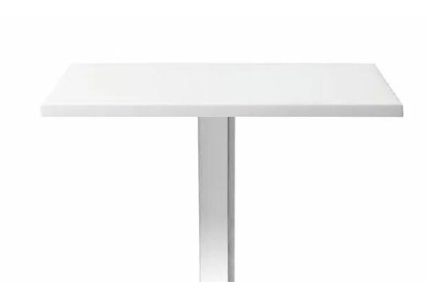 Столешница квадратная белая Бали HPL 70*70 см толщина 25 мм - Фото №1