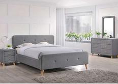 Кровать 1400х 200  серая