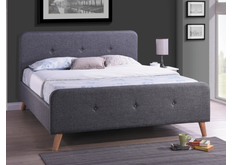 Кровать Malmo Signal (Малмо) 1600 х 2000 мм ткань серая