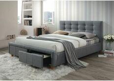 Кровать 1600х2000 см серая мягкая спинка