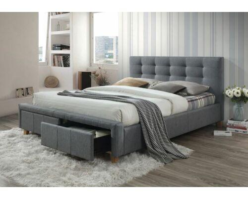 Кровать Ascot (Аскот) 160х200 см серая - Фото №1