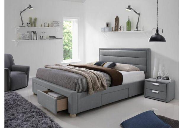 Кровать Ines (Инес) 1600 х 2000 мм серая - Фото №1