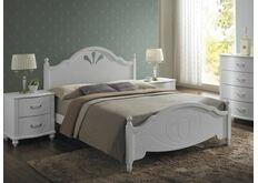 кровать из дерева белая