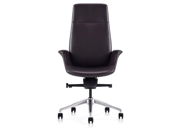 Кресло офисное Italy V28 BRL кожа люкс коричневое - Фото №2