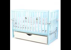 фото Детская кроватка Соня ЛД13 цвет бирюзовый маятник с ящиком