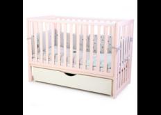 фото Детская кроватка Соня ЛД13 цвет розовый маятник с ящиком