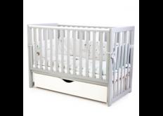 фото Детская кроватка Соня ЛД13 цвет серый маятник с ящиком