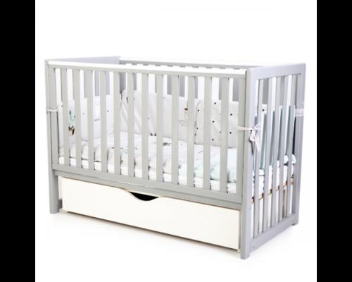 Детская кроватка Соня ЛД13 цвет серый маятник с ящиком  - Фото №1