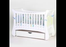 фото Детская кроватка Соня ЛД20 цвет белый  маятник с ящиком