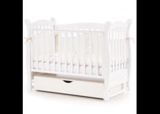Детская кроватка Соня ЛД-15 цвет белый