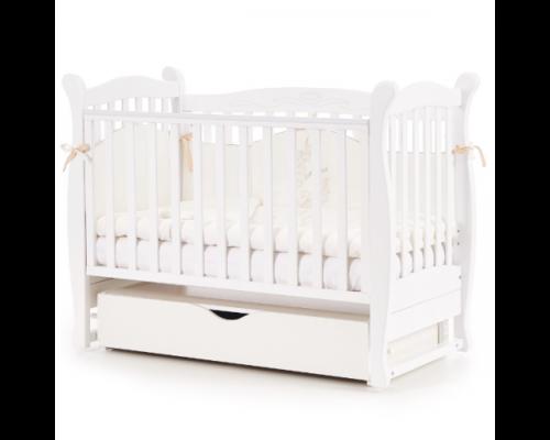 Детская кроватка Соня ЛД-15 цвет белый маятник с ящиком - Фото №1