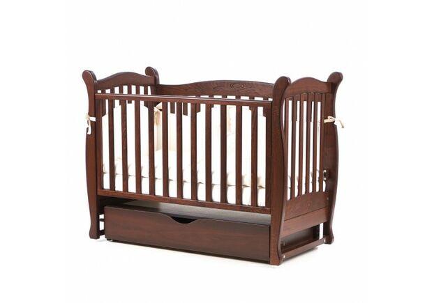 Детская кроватка Соня ЛД-15 цвет орех маятник с ящиком - Фото №1