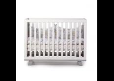 фото Детская кроватка ЛД-1 Манхэттен с маятником бело-серый