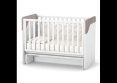Детская кроватка ЛД-4 Сидней маятник без ящика капучино-белый комфортная