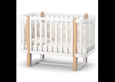 Детская кроватка ЛД-5 Монако с маятником бело-буковая