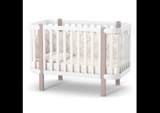 Детская кроватка ЛД-5 Монако на колесиках капучино-белый