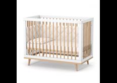Детская кроватка ЛД-2 Нью Йорк с маятником бело-буковый