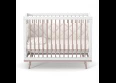 фото Детская кроватка ЛД-2 Нью Йорк с маятником капучино-белый удобная кроватка-люлька