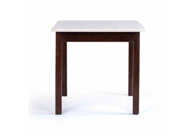 Комплект в детскую стол и 2 стульчика дерево/пленка МДФ слоновая кость-орех - Фото №2