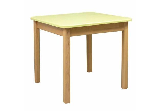 Детский комплект столик и 2 стульчика дерево/пленка МДФ желтый - Фото №2