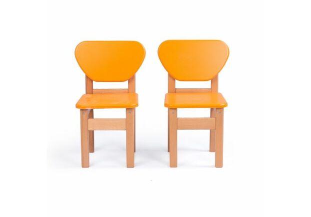 Стул детский дерево/пленка МДФ оранжевый - Фото №2