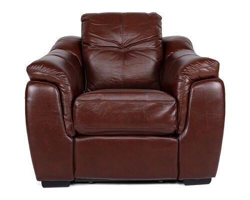 Кресло Бостон коричневый с перфорацией - Фото №1