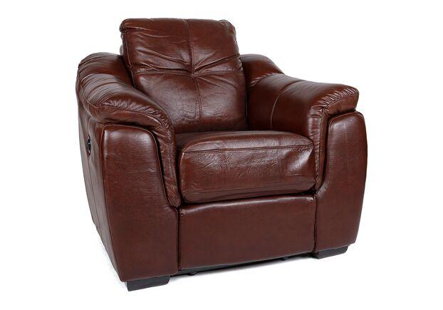 Кресло Бостон коричневый с перфорацией - Фото №2