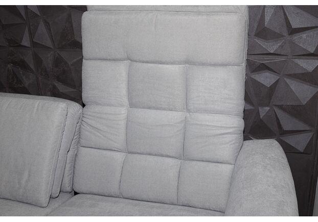 Диван угловой с оттоманкой Ричмонд текстиль, светло - серый - Фото №2