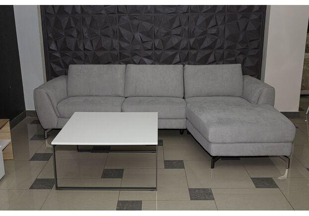 Диван угловой с оттоманкой Ричмонд текстиль, светло - серый - Фото №1