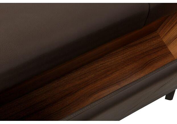 Диван угловой с баром Мэдисон кожа, темный мокко - Фото №2