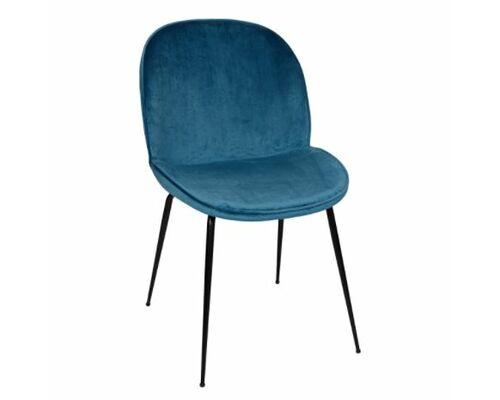 Стул SHIRLEY (49*59*83 cm текстиль) ярко-синий  - Фото №1