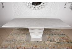 Фото Стол обеденный BALTIMORE (160+50)*90*76) керамика серо/белый