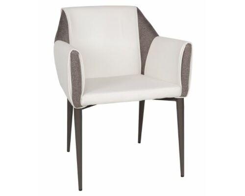 Кресло Toscana (61*62*82 см) белый/серый - Фото №1