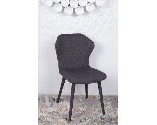 Стул VALENCIA (60*51*88 cm - текстиль) темно-серый - Фото №1
