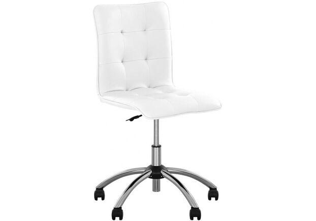 Кресло Malta GTS Chrome Eco-50 белый - Фото №1