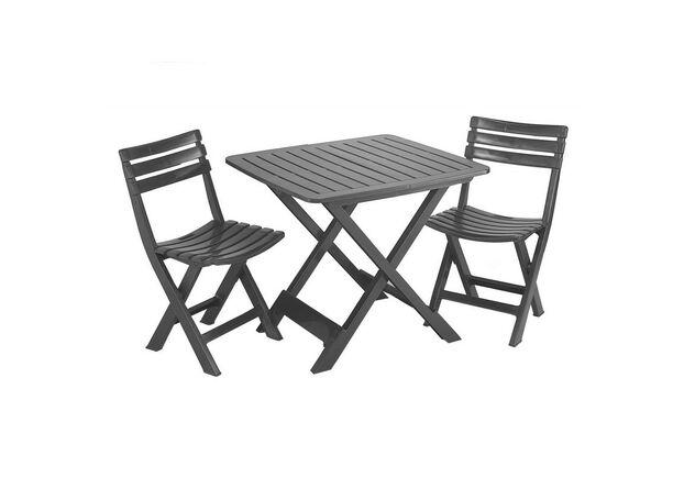 Набор CAMPING Стол Tevere+2 стула антрацит - Фото №1