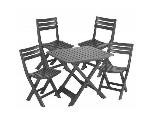 Комплект Садовой мебели Camping set 4 антрацит - Фото №1