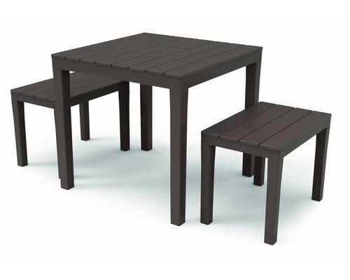 Набор PAPUA (стол Bali +2 лавочки Timor) коричневый - Фото №1