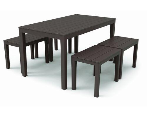 Набор SAMOA (стол Sumatra+4 лавочки Timor) коричневый - Фото №1